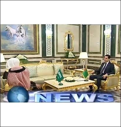 Кадр из передачи международного телеканала Туркменистана.