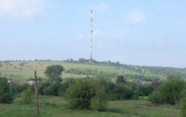 Телевышка на горе Карачун до разрушения.