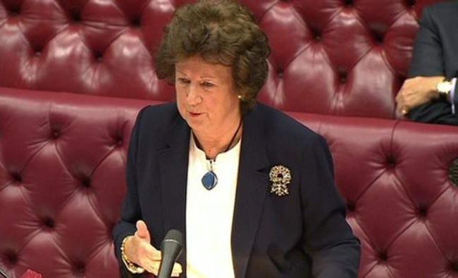 На иллюстрации: замминистра иностранных дел Великобритании баронесса Энелей (Anelay) на упоминавшемся выше заседании Палаты лордов.