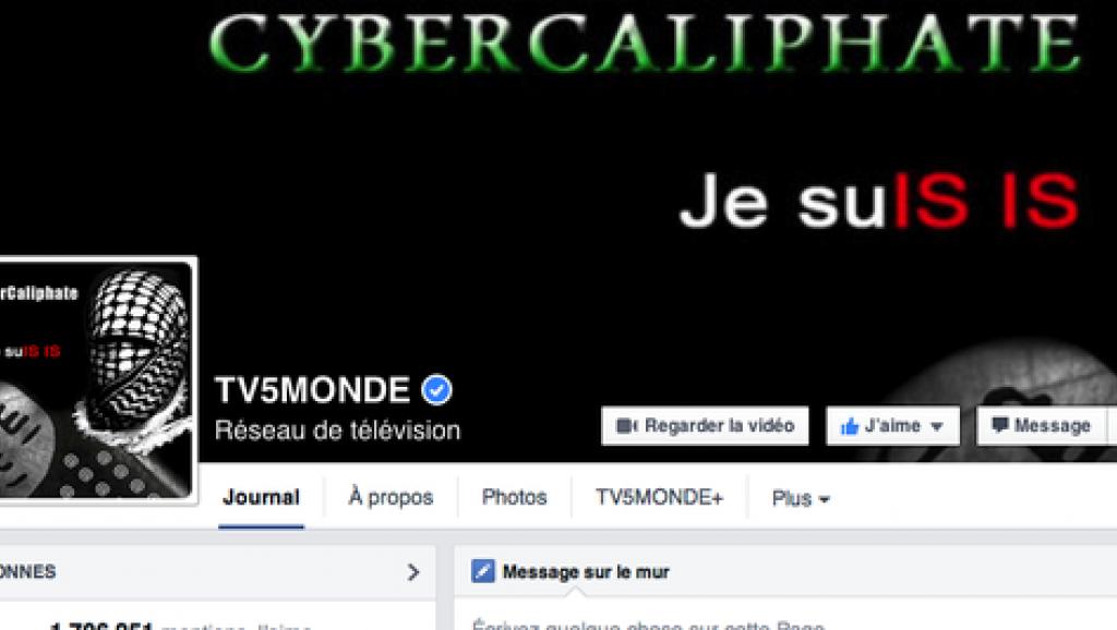 На иллюстрации: Страница телеканала в Facebook после взлома. Хакеры, назвавшие себя «Киберхалифатом», разместили на аватаре изображение человека, закутанного в арабскую куфию, и надпись «Я – «Исламское государство».