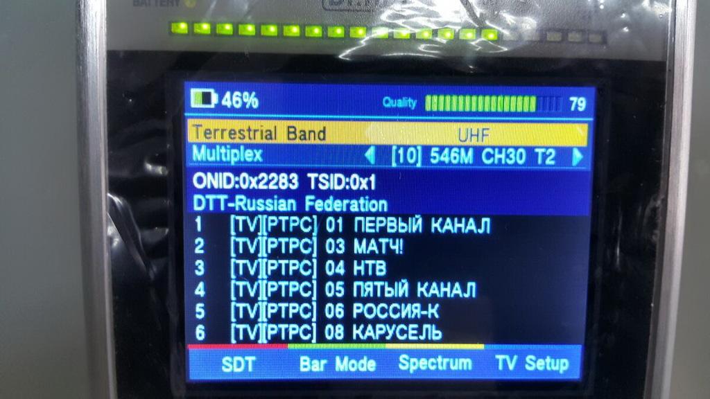Настройка эфирки на Dr.HD 1000 Combo, список каналов