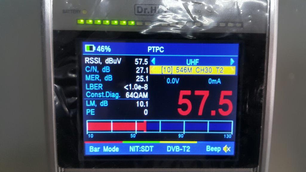 Настройка эфирки на Dr.HD 1000 Combo, шкала RSSI