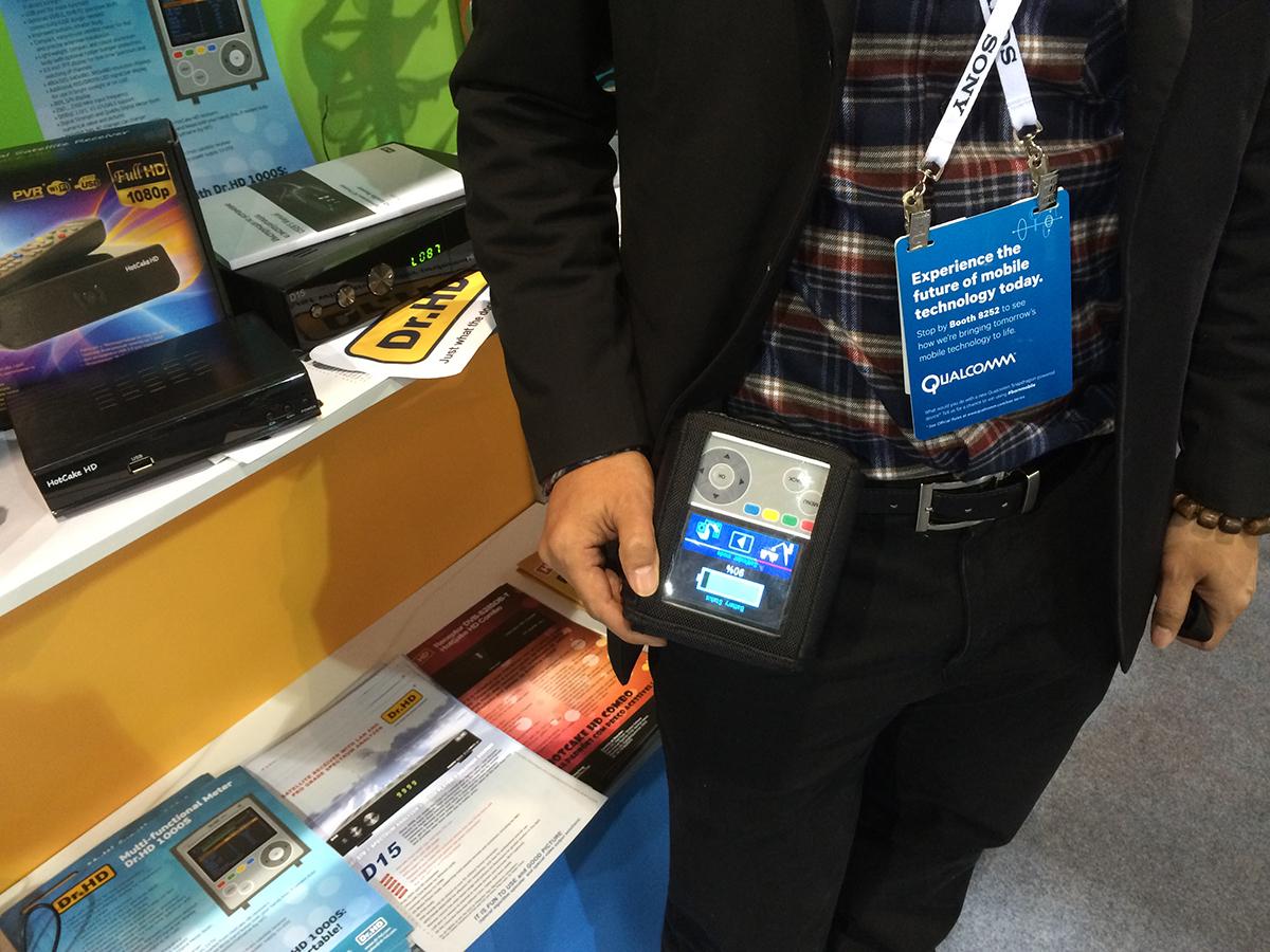 Сумка для прибора Dr.HD 1000S на выставке CES 2014