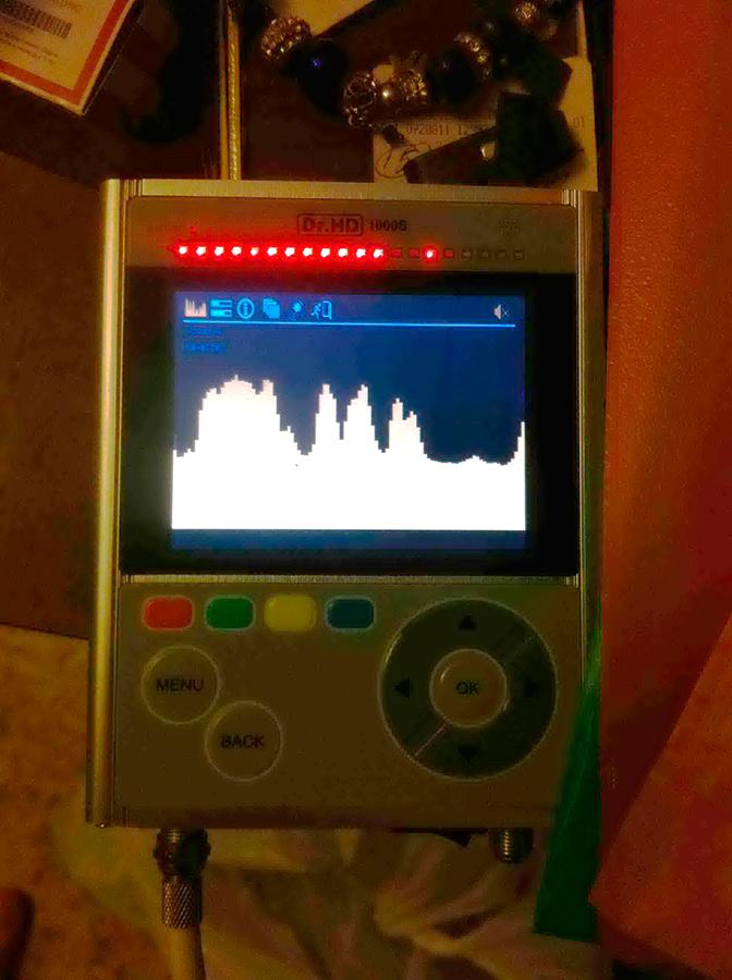 Эфирный спектр прибора Dr.HD 1000S на выставке CES 2014