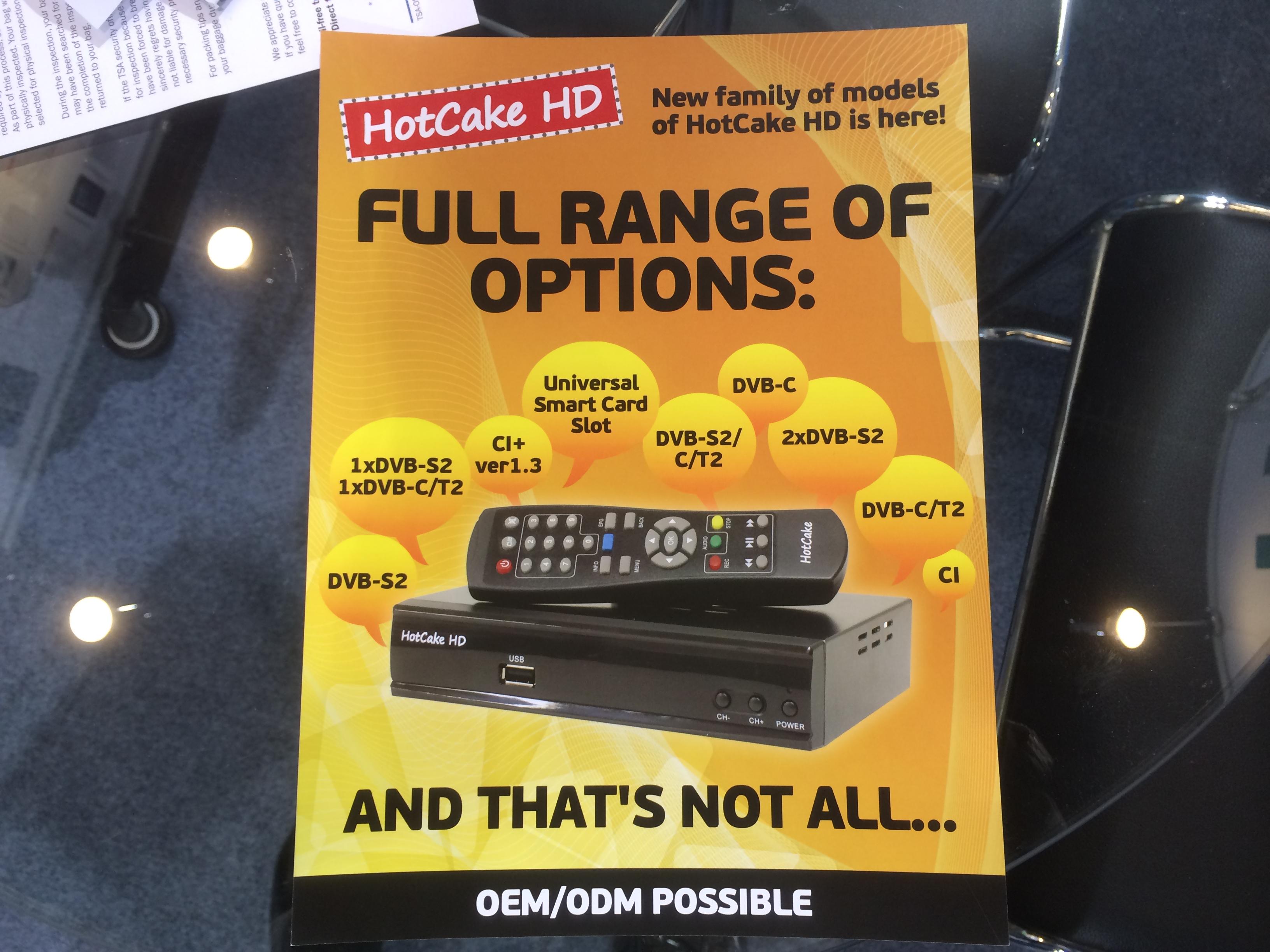 Реклама нового поколения ресиверов HotCake HD на выставке CES 2014
