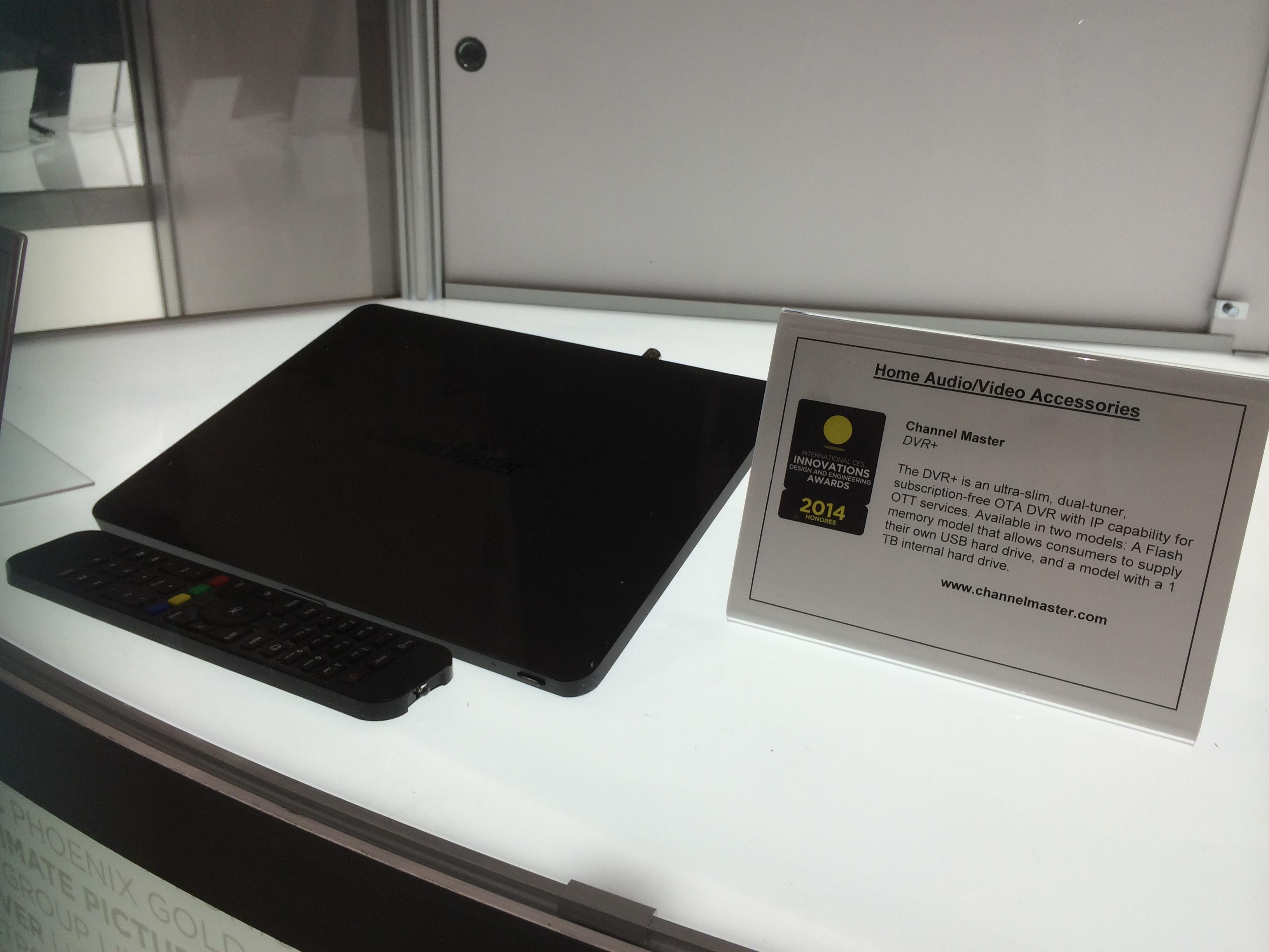 Самый плоский в мире двухтюнерный ресивер Channel Master с возможностью ip на выставке CES 2014