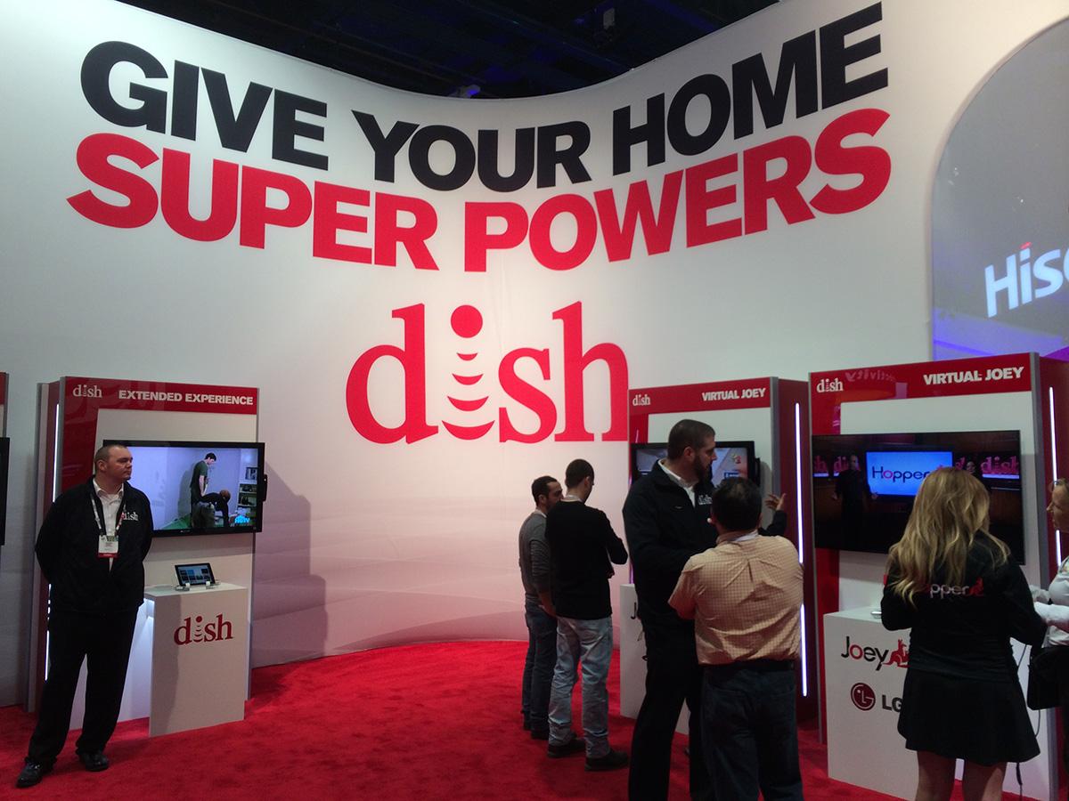Стенд Dish Network на выставке CES 2014