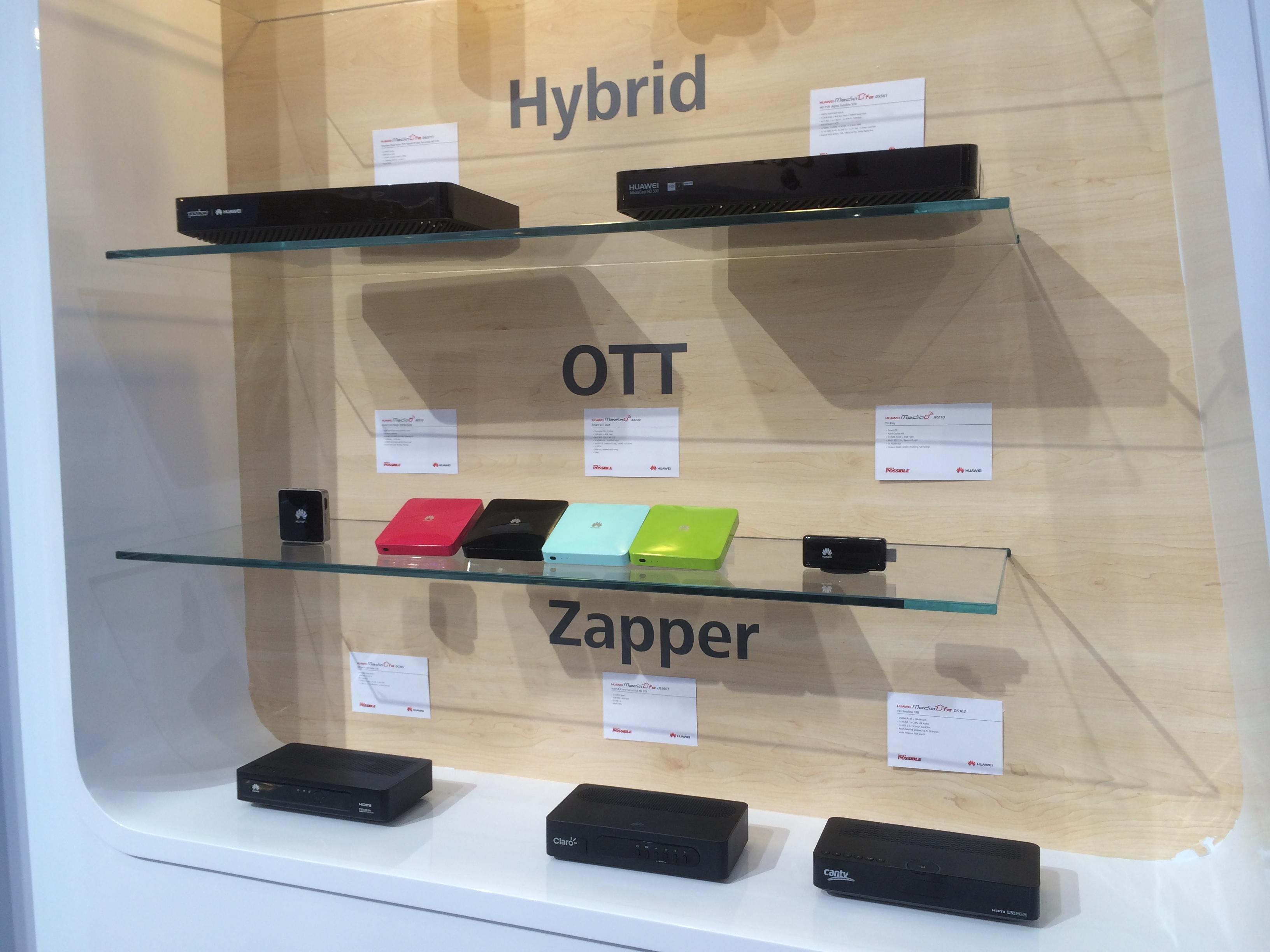 Android-ресиверы Huawei на выставке CES 2014